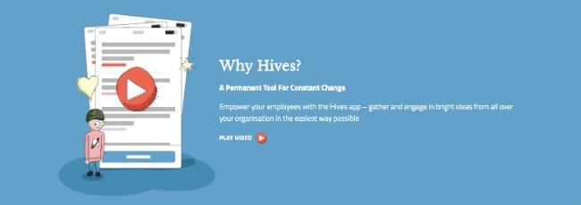 Hives produktvideo använder också delar ur ullistrationsmanéret.