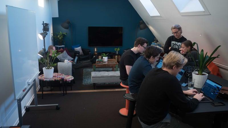 iGoMoons kreativa arbetsrum