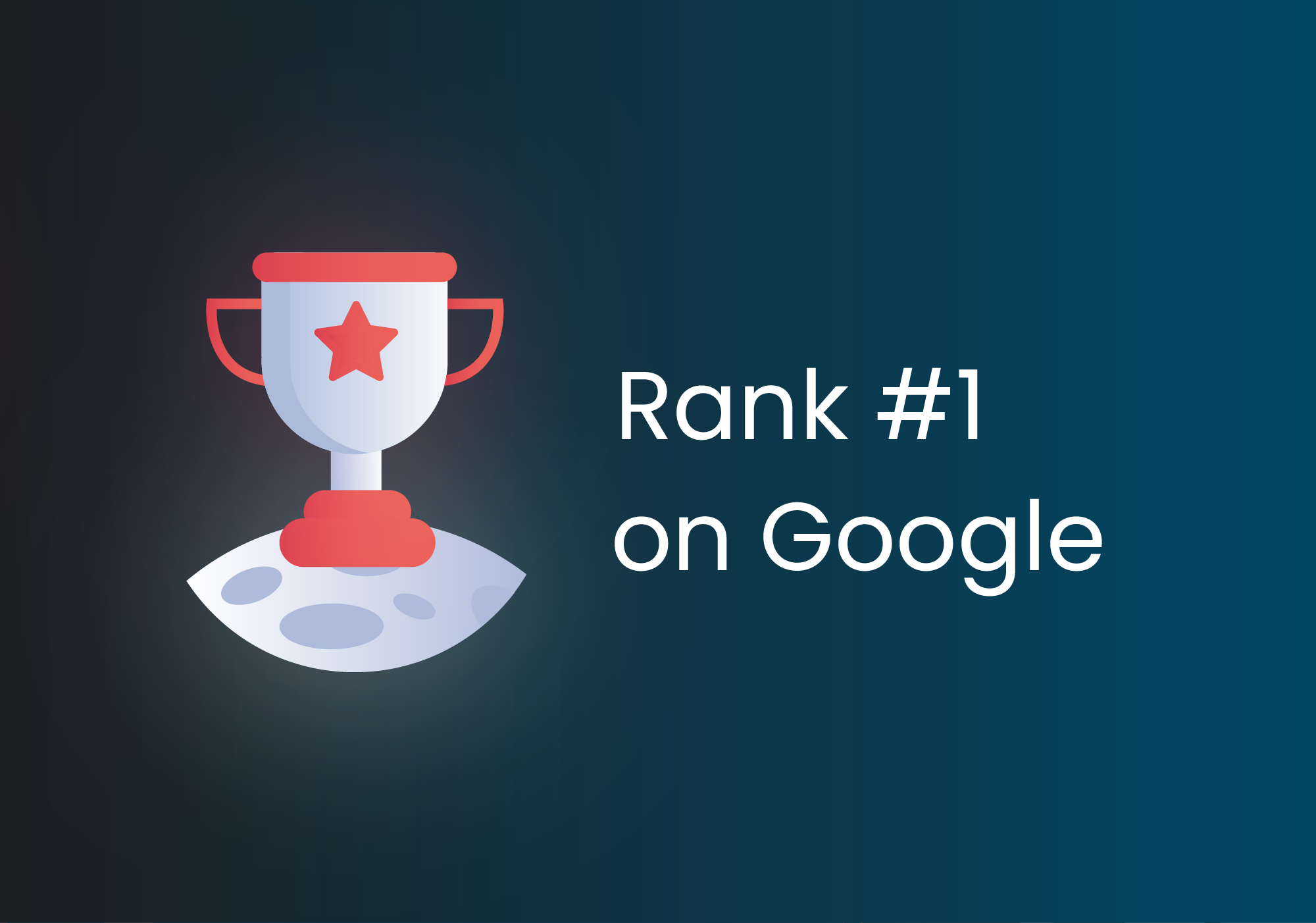 Trophy for ranking #1 on Google