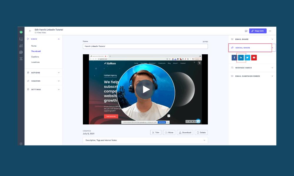 Send Video in LinkedIn Message